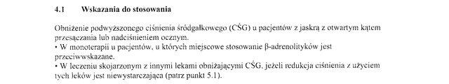 Wskazania wg ChPL